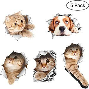 3D Vivid Decors, FOME 5 Pack Stick Wall Arts Decal